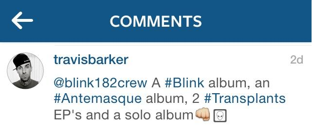 Travis Barker comment