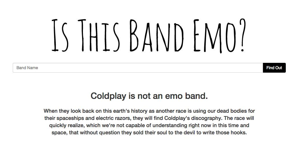 Coldplay Emo