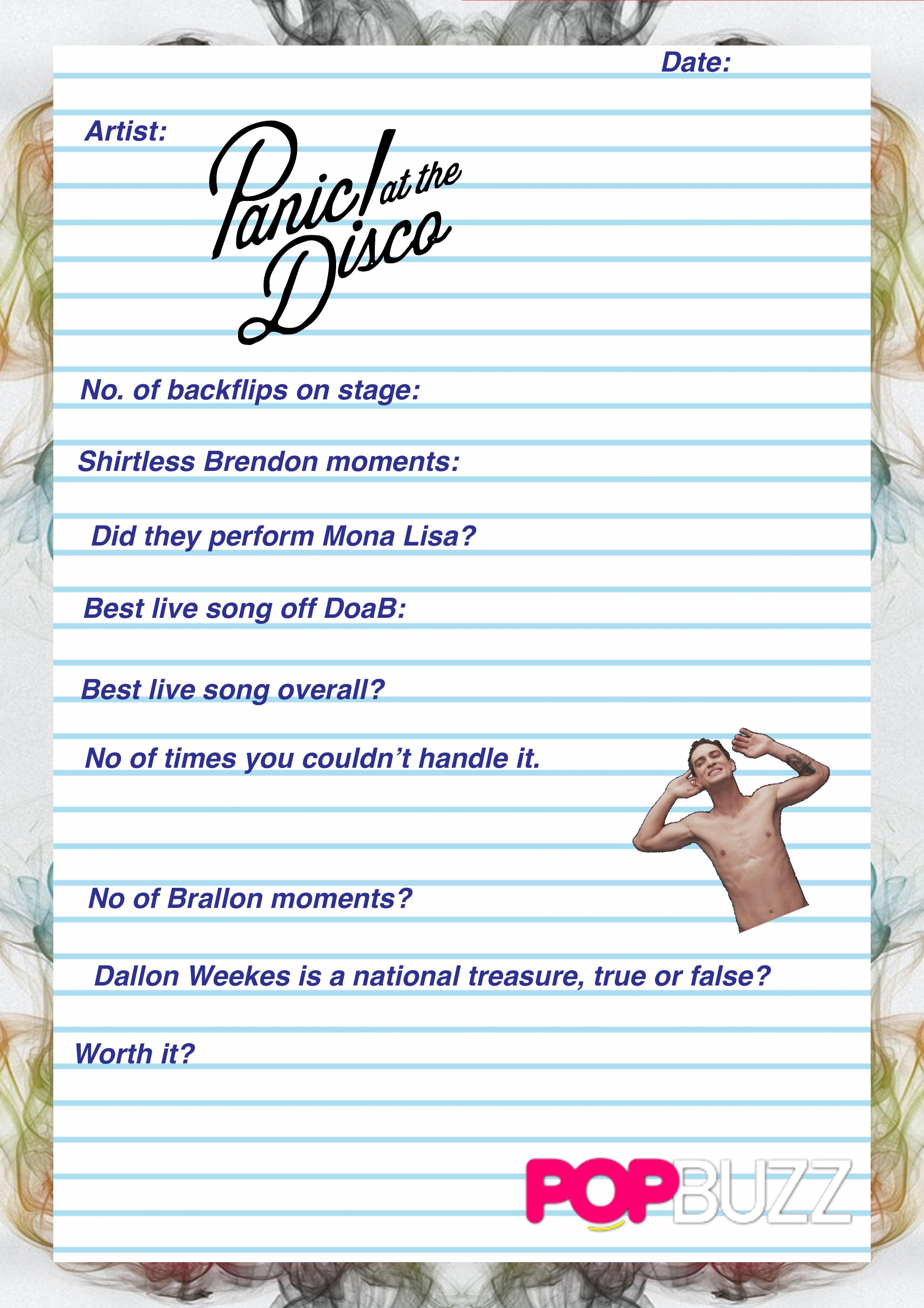 Gig Diary Panic