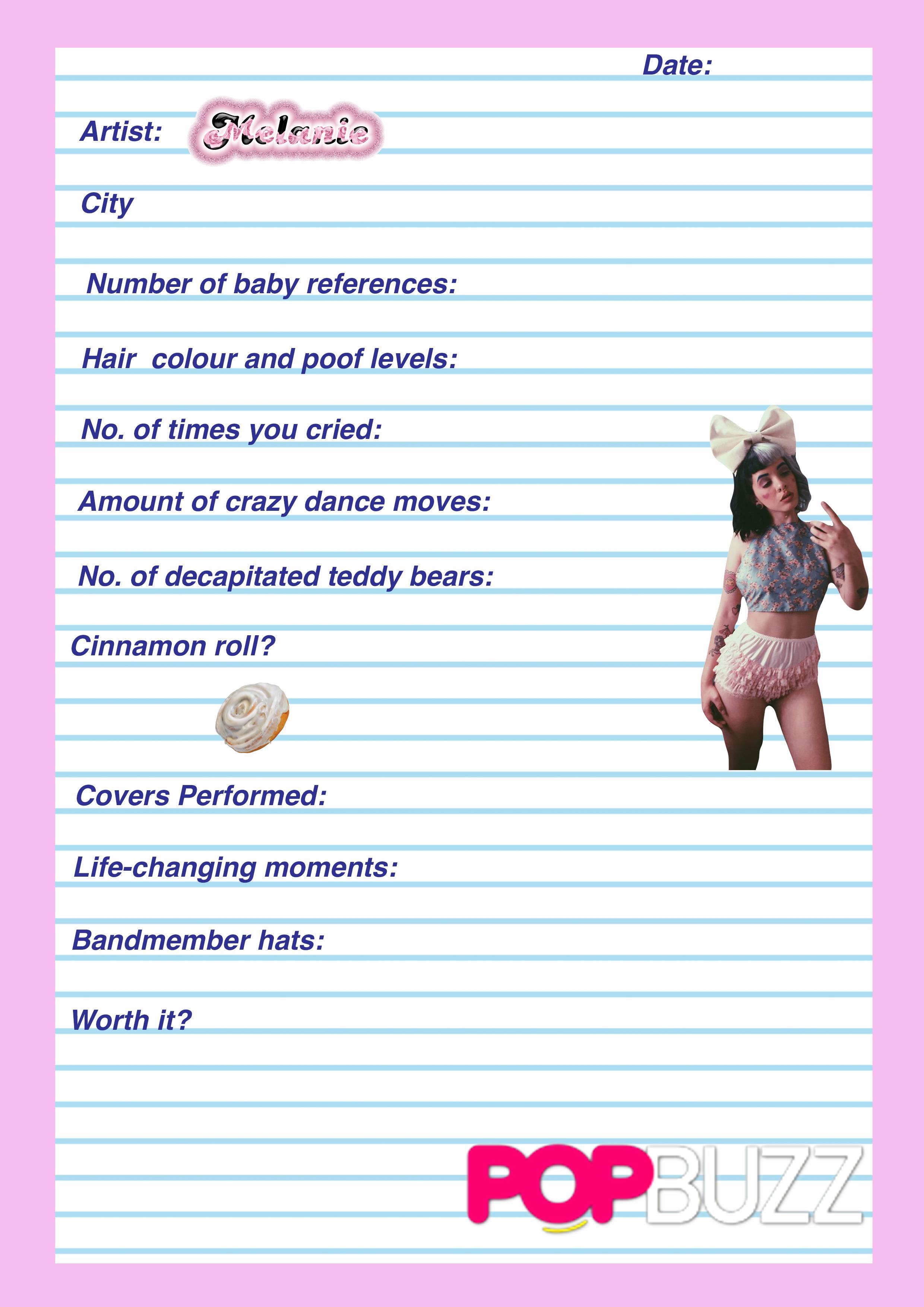 Melanie Gig Diary