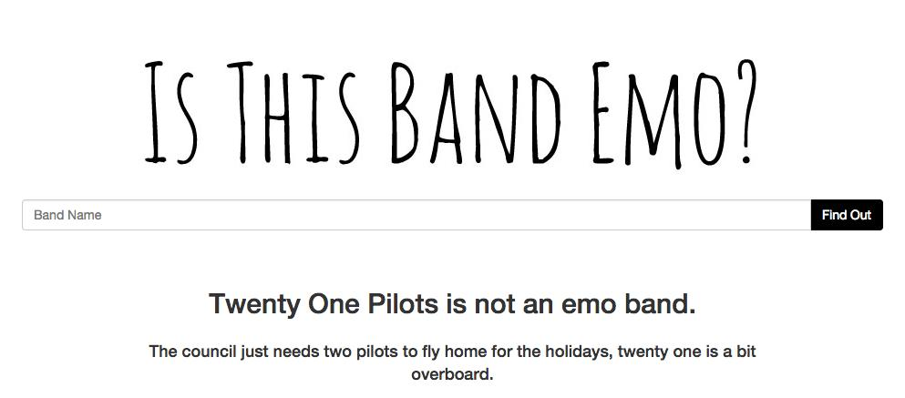 twenty one pilots emo