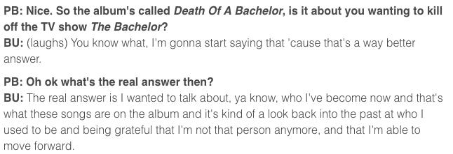 Brendon interview quote