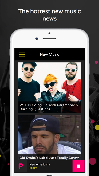 PopBuzz App Screen shot 2
