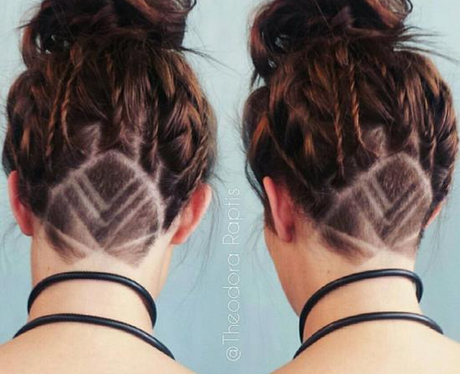 leaf undercut hidden hair tattoo