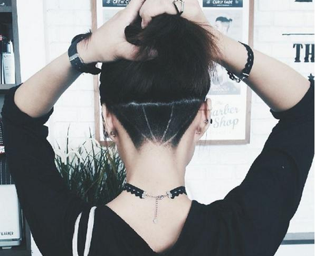 diamond undercut hidden hair tattoo
