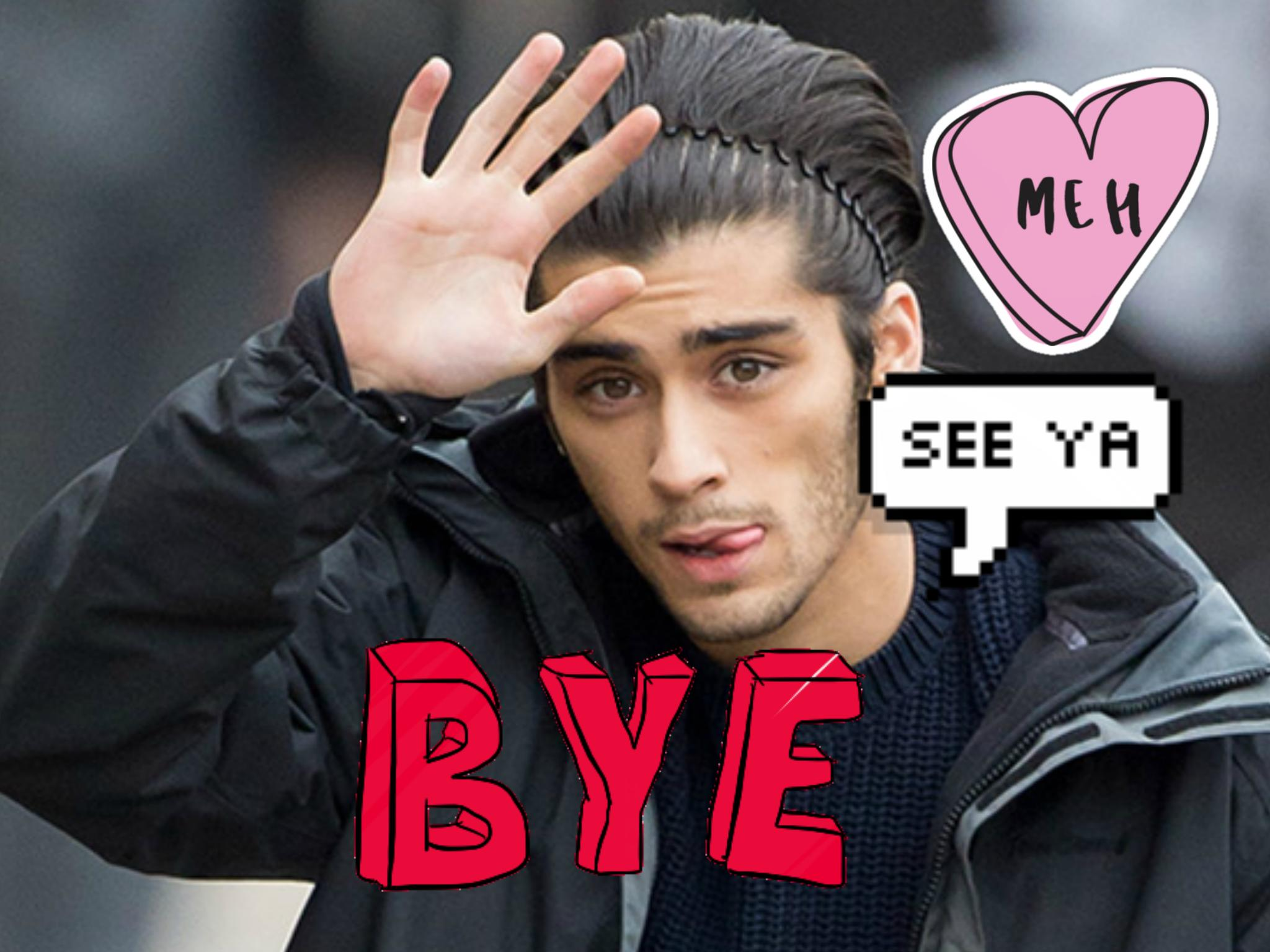Zayn Malik goodbye