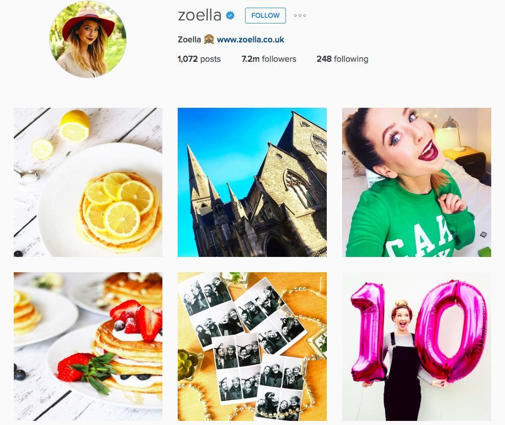 Zoella Instagram