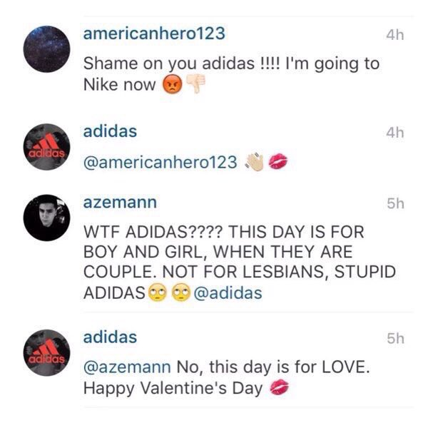 Adidas Instagram Comment
