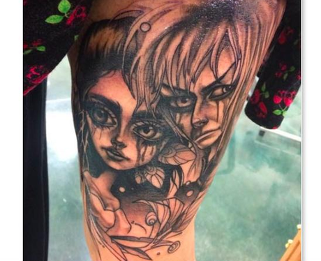 David Bowie tattoo ink Labyrinth
