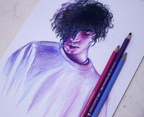 Matty Healy drawing