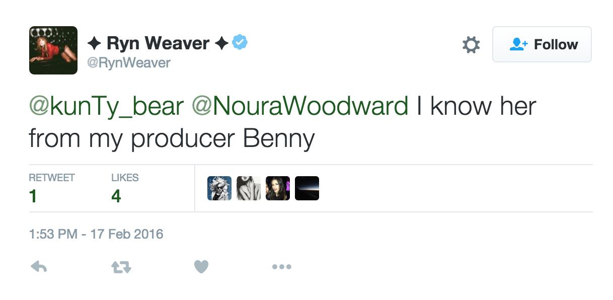 ryn weaver tweet