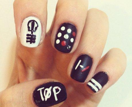 twenty one pilots nail art