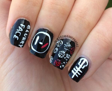 Twenty Pilots Nail Art That Will Cement Your Place In The Skeleton ...