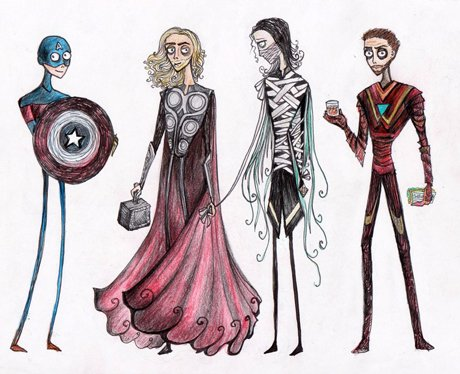 tim burton style the avengers