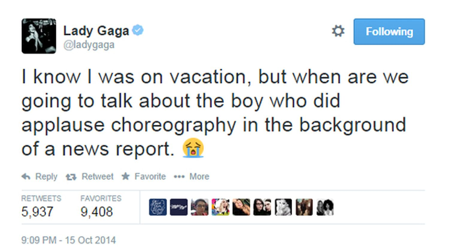 Lady Gaga Brendon Jordan Tweet