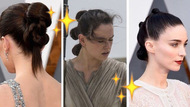 This Rey Inspired Hair Trend Took Over The Oscars Cause The Force Is Too Damn Strong Popbuzz