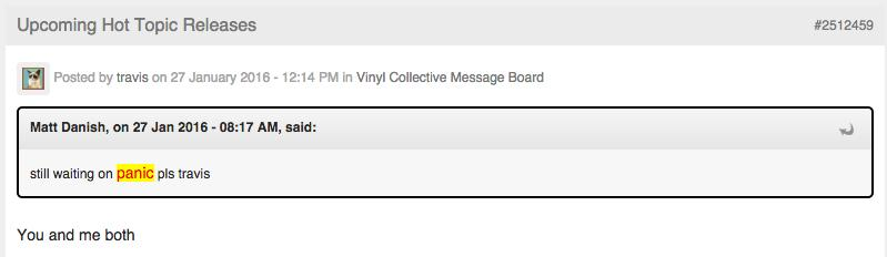 Hot topic vinyl details