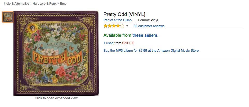 pretty odd vinyl panic