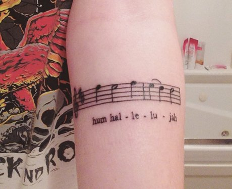 Fall Out Boy Lyric Tattoo Hum Hallelujah