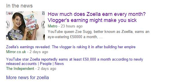 Zoella money