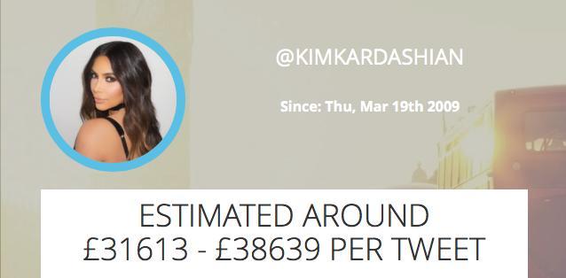 Kim K Sponsored Tweet