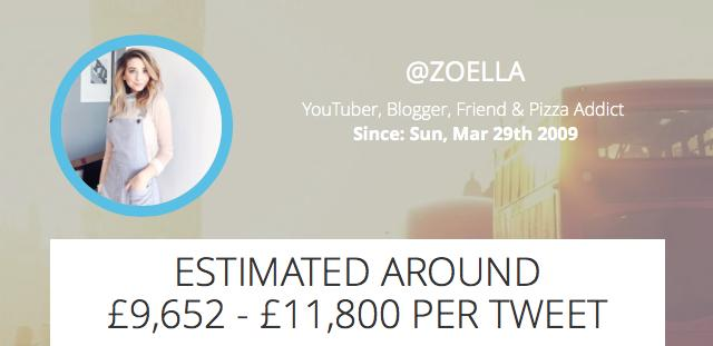 Zoella Sponsored Tweet