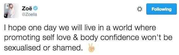 Zoella Tweet