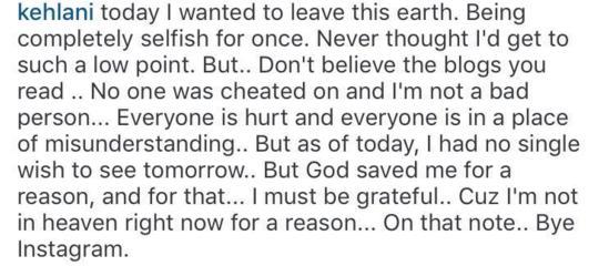 Kelani Instagram post