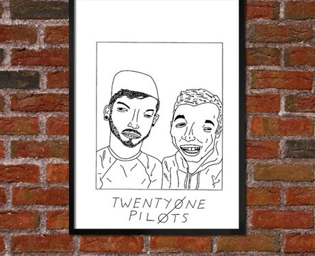 Badly Drawn Twenty One Pilots Poster