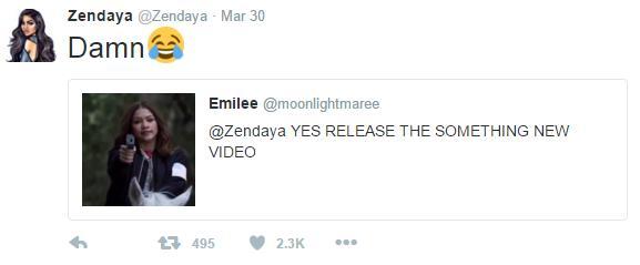 Zendaya tweet