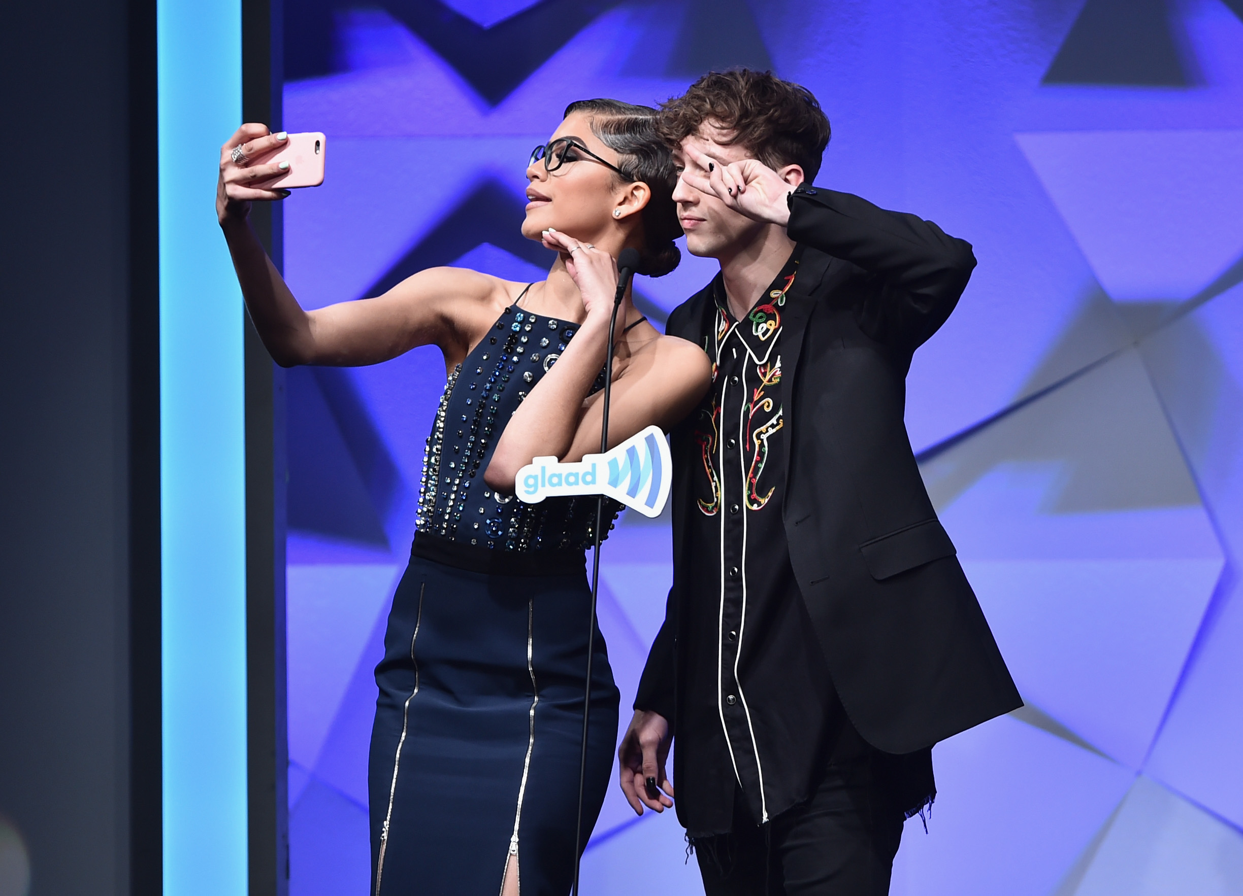Troye Sivan and Zendaya at GLAAD Awards