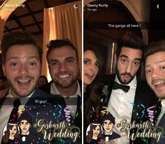 alex gaskarth snapchat wedding 2