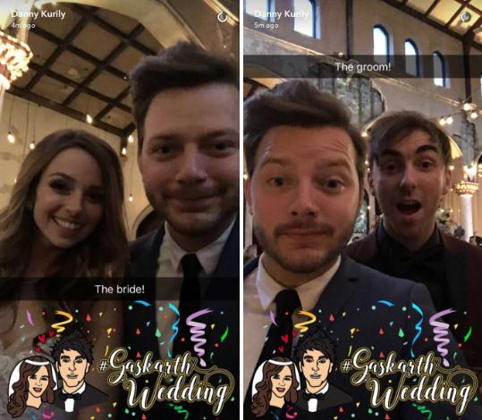 alex gaskarth wedding snapchat