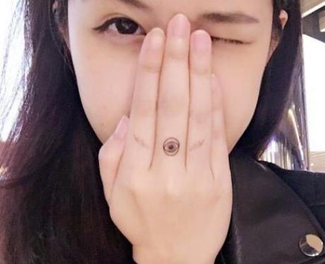 Eye Finger Tattoo