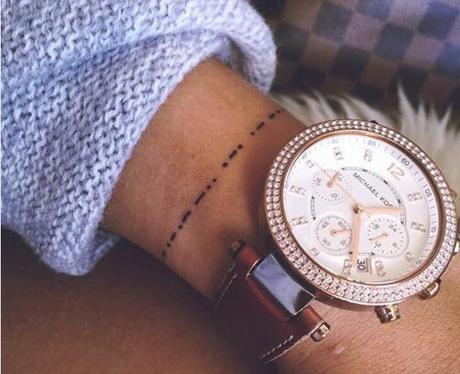 Morse Code Bracelet tattoo