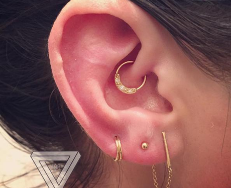 The Daith And Triple Lobe Piercing