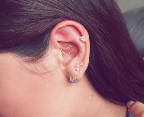 The Triple Lobe Daith And Auricle Piercing