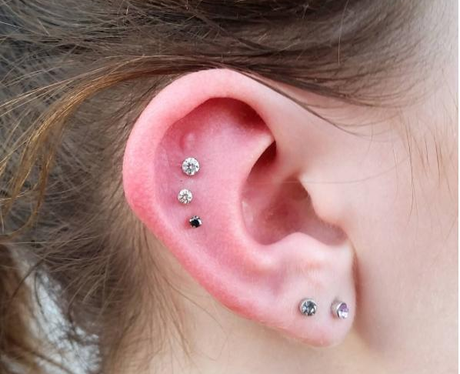 The Scapha And A Double Lobe Piercing