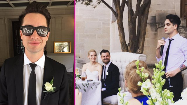 panic reunites as spencer smith gets married with best