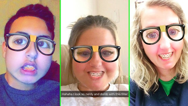 snapchat s nerd filter is actually way too real for these teens