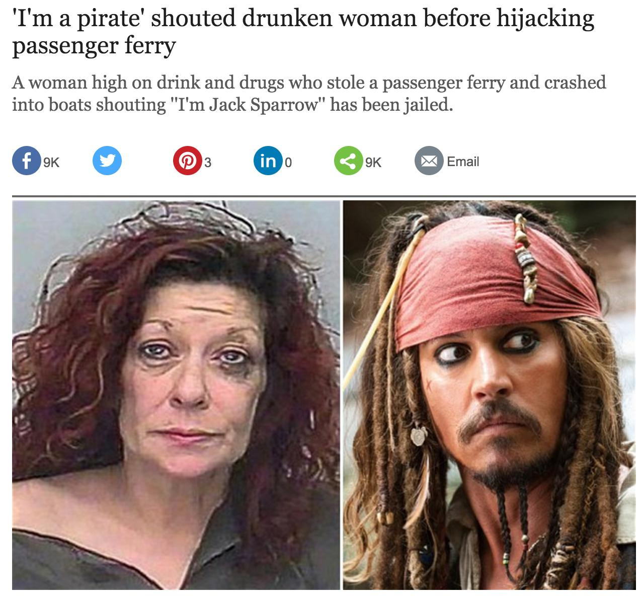 Drunk Woman Telegraph Article