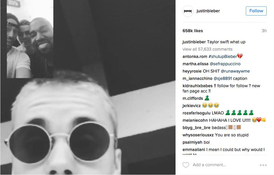 Justin Bieber Taylor Swift Instagram