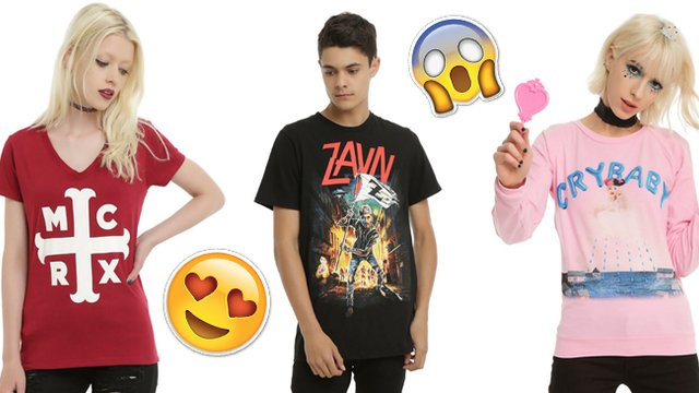 1f3334f8 10 Essential Pieces Of Band Merch For Hot Topic Trash - PopBuzz