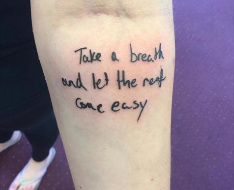 All Time Low Lyric Tattoo