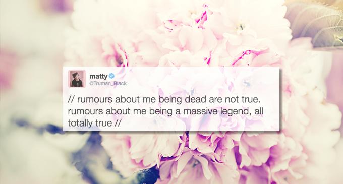 Matty Healy Funny Tweets 5
