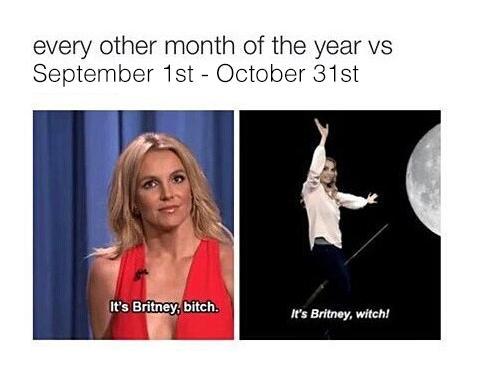 Britney halloween meme