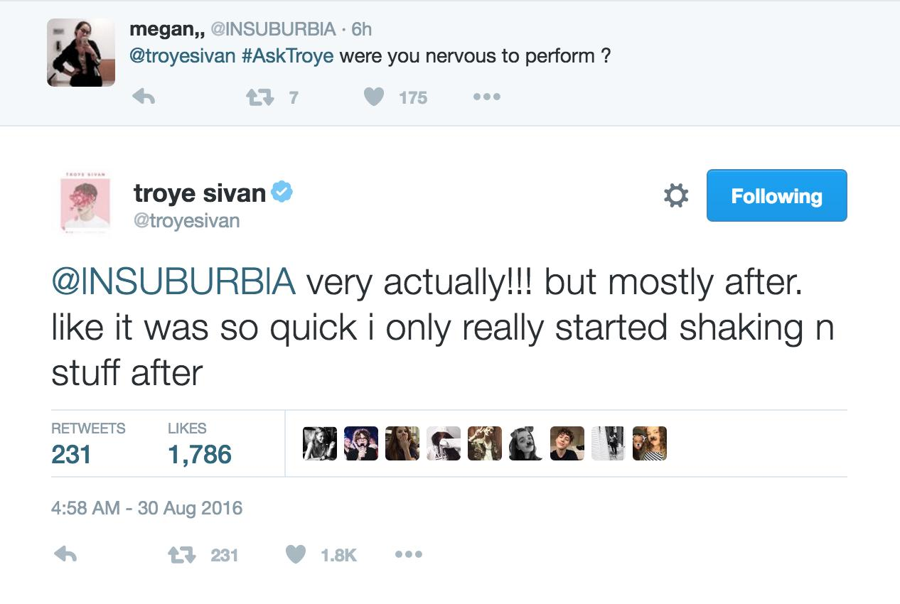 Troye Sivan Tweets