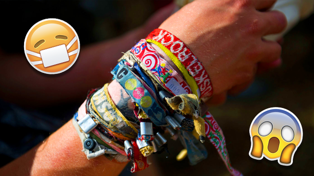festival wristbands, Why you should cut your festival wristbands off