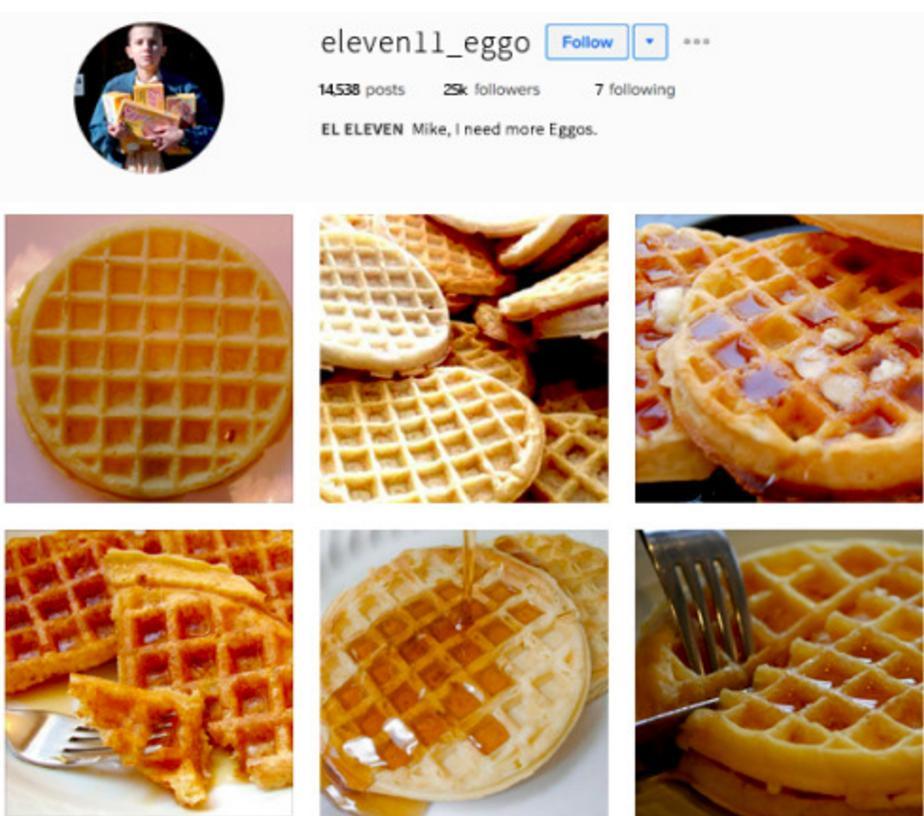 Eleven Stranger Things Instagram