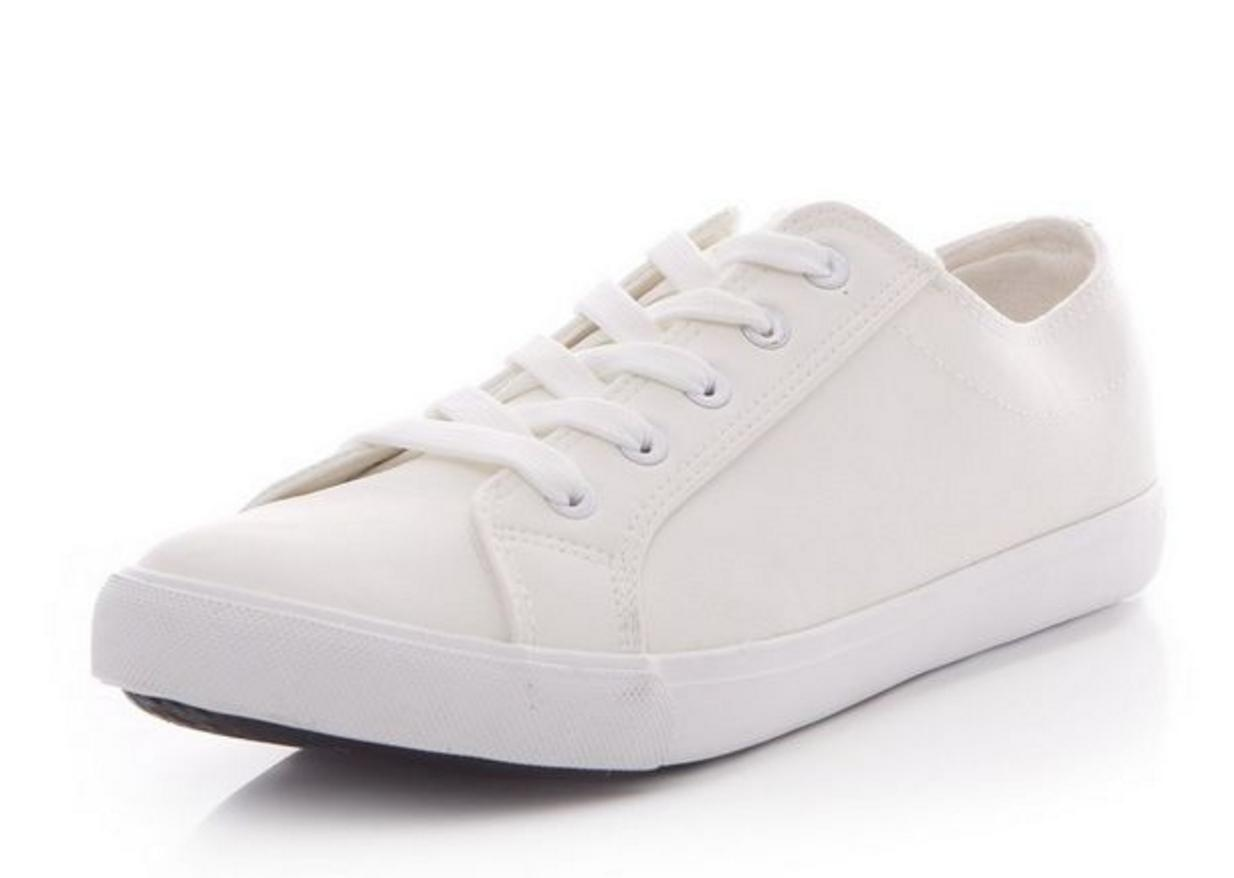 White Plimsolls New Look